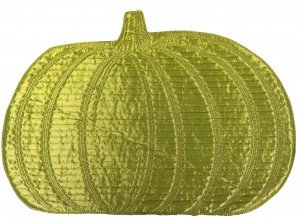 Green Pumpkin Fall Style Dining Table Place Mats