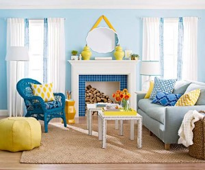 Blue Yellow Summer Room