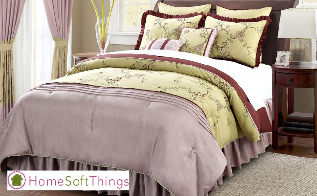 Home Soft Things Beautiful 12 Piece Comforter Set.