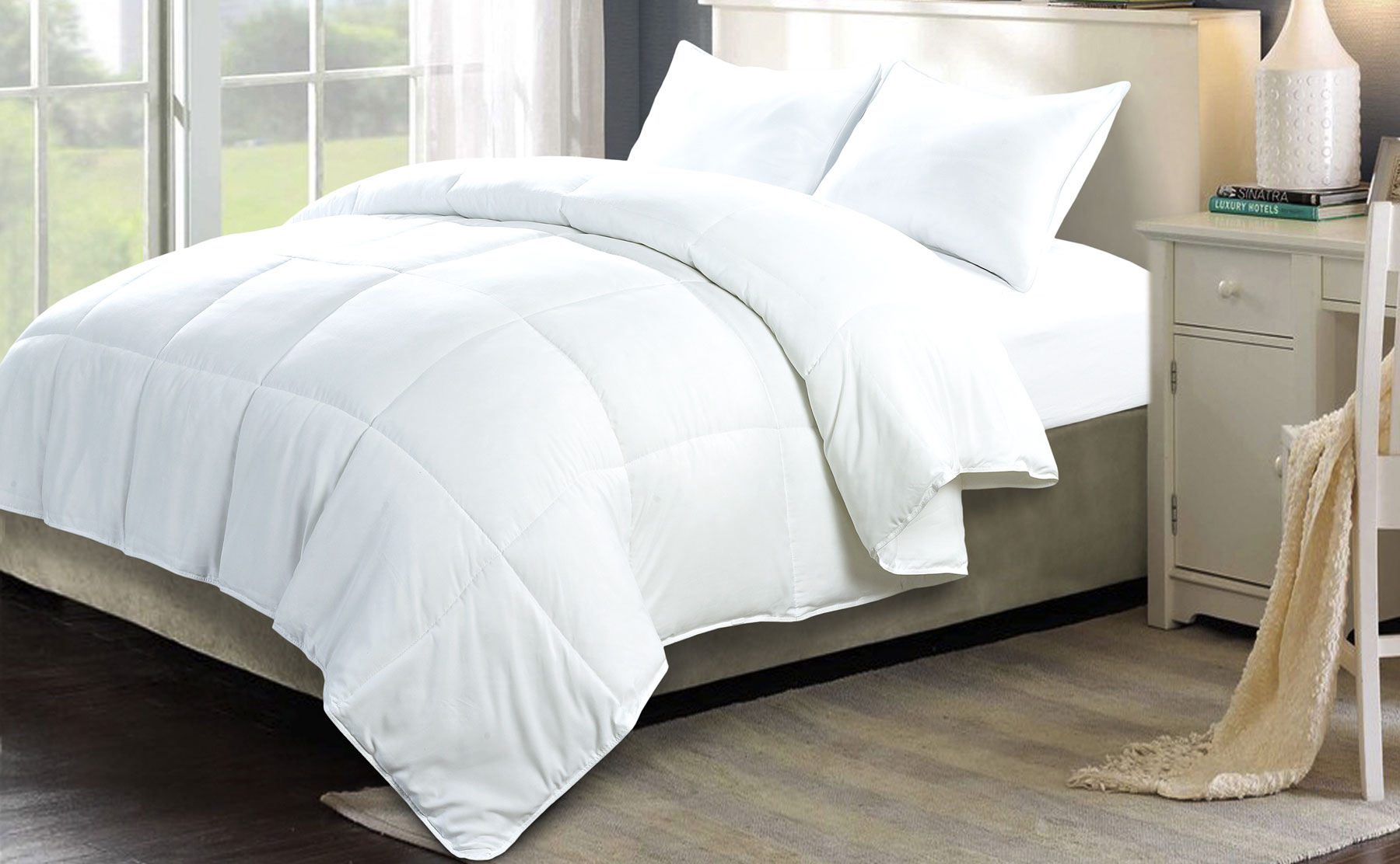Soft Warm Affordable 3 Piece Comforter Duvet Down