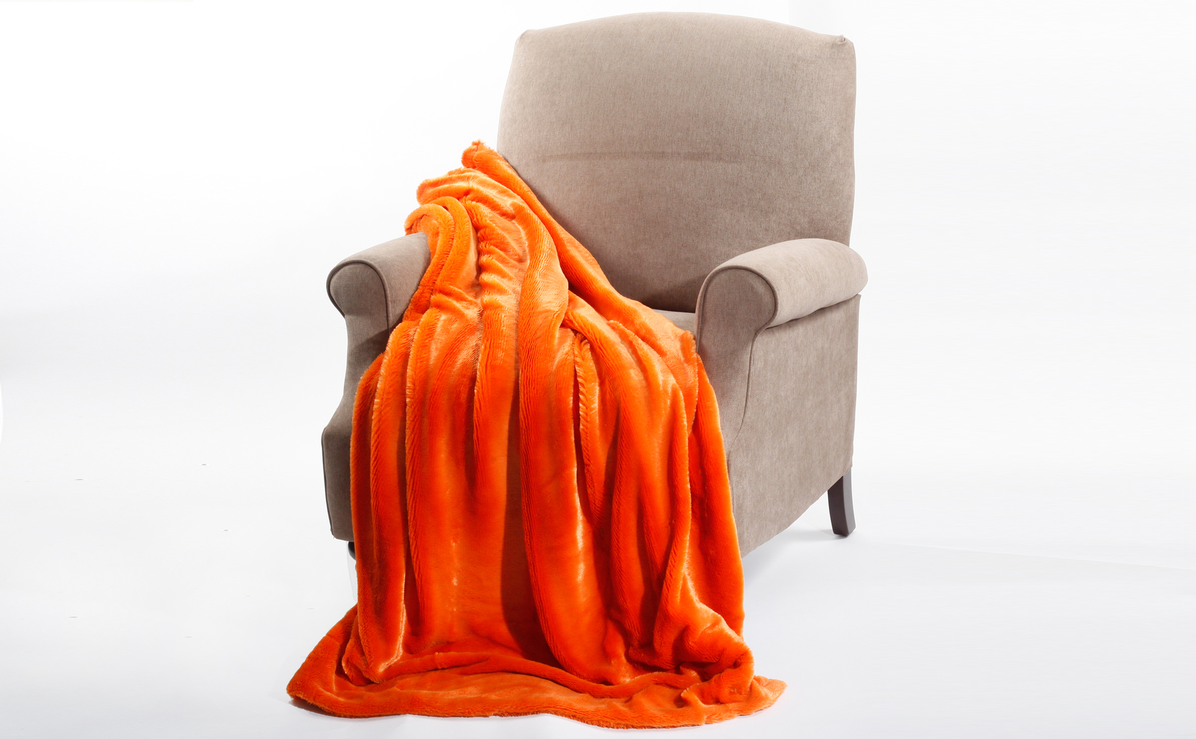 Solid Plain Faux Fur Throw Blankets