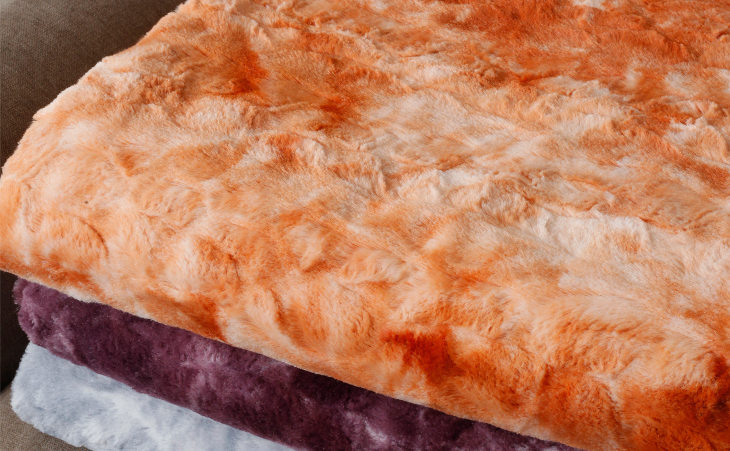 Tie Dye Double Sided Faux Fur Blankets