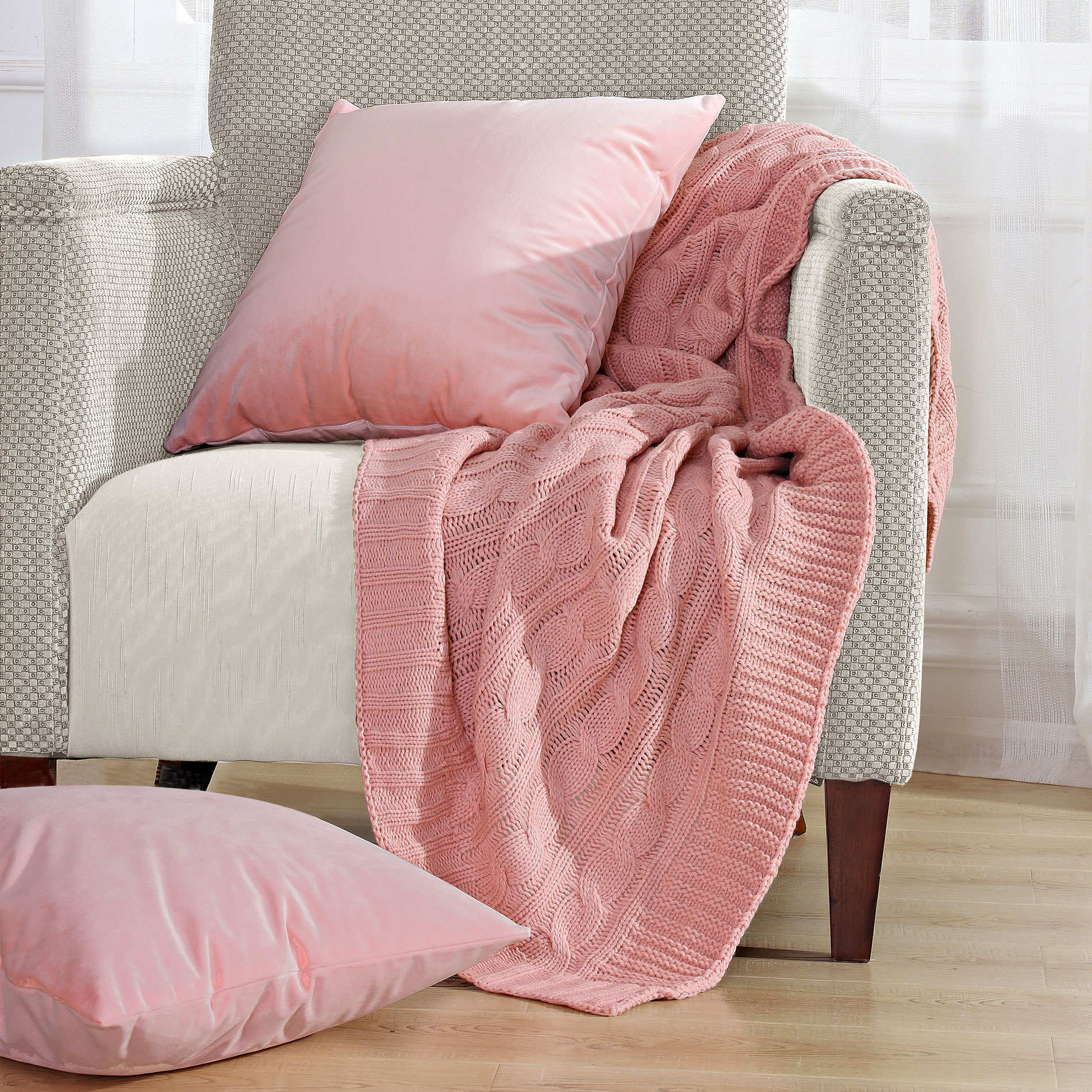 Throw Pillow And Blanket Set : 3 Piece Throw Blanket and Throw Pillow Shell Sets - Blissful Comforts